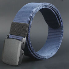 Fashion Wild Mens Canvas Belt Metal Automatic Buckle Dress Waistbands Belt Strap