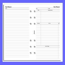 Filofax Personal Undated Day Diary Planner Insert Refill 131319
