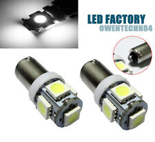 4X White Ba9s 1835 5050 5-SMD Car LED Interior License Plate Map Dome Lights #OC