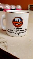 NHL STANLEY CUP CRAZY MINI MUG NEW YORK ISLANDERS 1980 CHAMPS W/OPPONENT &SCORE