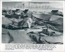 1955 High Winds Collapse Tents Camp Desert Rock Nevada Test Site  Press Photo