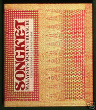 BOOK Songket Malaysia Textile silk ikat sarong weaving Asian costume design art