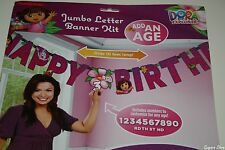 DORA THE EXPLORER ADD-AN-AGE JUMBO LETTER BIRTHDAY BANNER PARTY SUPPLIES DECOR