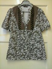 WOMENS STUNNING GOING OUT TOP SIZE 12 BROWN     OFFERS WELCOME.