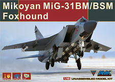 AMK MIKOYAN MIG-31 BM/BSM FOXHOUND plastic model kit, 1/48, #88003, NEW!