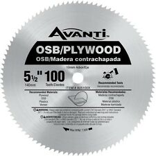 Avanti 5-1/2 in. x 100-Tooth OSB/Plywood Saw Blade
