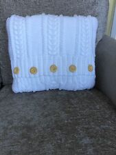 """Knitted Cable Cushion, Button opening, 18"""" X 18"""" Hand Knitted"""
