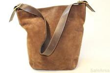 Coach Legacy F1S-9196 Tobacco Brown Suede & Milk Chocolate Leather Duffle Bag jz