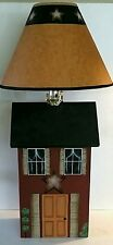 Primitive Country Saltbox House Table Lamp