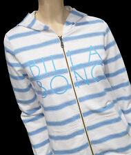 "BRAND NEW +TAG BILLABONG ""MONROE"" LADIES (10) HOODED JUMPER ZIP THRU JACKET BLUE"
