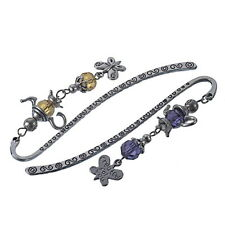 5 Mixed Charm Bookmarks W/Pot Butterfly Dangle 85mm