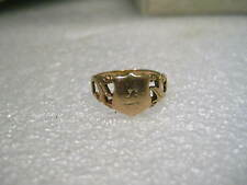 Vintage 14kt gold Jewish Wording/Initial Ring, size 5, 2.83 grams, Mid-Century