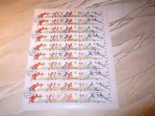 Bogen 10 X 5 ZD Sowjetunion Fußball WM Italien o gestempelt 6088 - 6092 BRS201