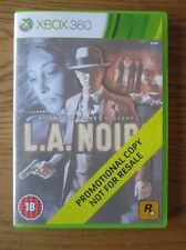 LA / L.A. Noire PROMO – Xbox 360 (Promotional Copy) Full Game ~ Rockstar