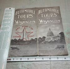 1910's Foldout Travel Brochure Red Star Line Seeing Washington DC Auto Tours
