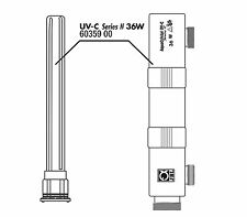 JBL AquaCristal UVC 36 Watt Ersatzquarzglas mit Gehäuse