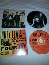 Lot of 2 Huey Lewis & the News CDs Four Chords & Time Flies Best of EUC