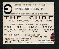 Original 1996 The Cure Concert Ticket Stub Earls Court London The Swing Tour