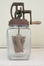 #20 Glass Dazey Butter Churn, Antique Vintage Style Reproduction, Rustic Lid