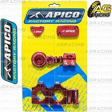 Apico Bling Pack Red Blocks Caps Plugs Nuts Clamp Covers For Honda CRF 250R 2012
