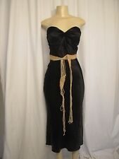 ruby rox strapless tuxedo black shiny holiday sexy New Year's Eve party dress 3