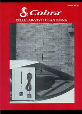 Rare Original Factory Cobra Cellular Style CB Radio Antenna Dealer Sheet Page
