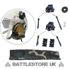 Z Tactical Comtac ELMETTO ferrovia Adattatore Set di I / II NERO Fast OPS Core ZTACTICAL UK