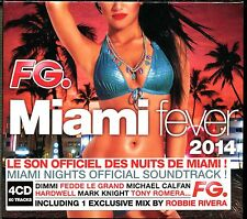 FG MIAMI FEVER 2014 - MIAMI NIGHTS - 4 CD COMPILATION NEUF ET SOUS CELLO