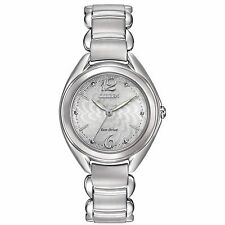 Citizen Eco-Drive Women's FE2070-84A L Collection Silver Tone Bracelet Watch