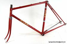 VINTAGE Racing bike Frame Fork set ALDO Lugged COLUMBUS Steel eroica medium