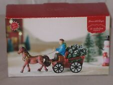 "St. Nicholas Square ""Horse Drawn Wagon""  From The Christmas Village Collection"