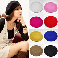 Fashion Unisex Mens Womens Wool Warm French Artist Beret Beanie Hat Ski Cap Gift