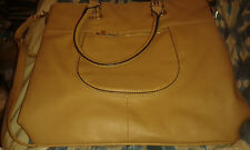 Carpisa   Beige Large Leather Tote Hand Bag -   Used - GOOD CONDITION