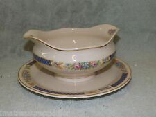 Syracuse China USA made Haddon Gravy Boat with Attached Liner