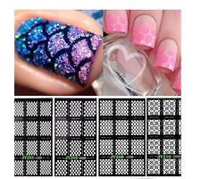 Hollow DIY Nail Art Stud Rhinestone Sticker Gold Patch Hollow metal frame Decor