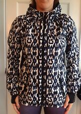 Lululemon Size 4 IKAT Jacket Downtime Black Blue White Hoodie EUC COAT RUN RARE