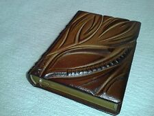 Blank Notebook Diary Journal - Handmade Leather Craft Gift Art #24