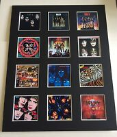 "KISS DISCOGRAPHY PICTURE MOUNTED 14"" By 11"" READY TO FRAME"