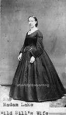 "Photo 1874 ""Agnes Lake Hickok wife of Wild Bill Hickok"""