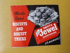 RECIPE BOOKLET FOLD OUT SWIFTS JEWEL SHORTENING BISCUITS AND BISCUIT TRICKS