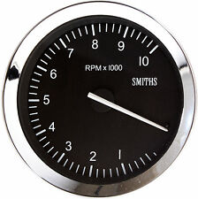Smiths Classic Motorsport Tachometer / Rev Counter 100mm 0-10K RPM Chrome Bezel