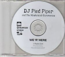 (EN72) DJ Pied Piper & The Masters Of Ceremonies, We 'R' Here - 2001 DJ CD
