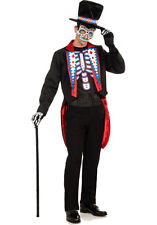 "Day of the Dead Costume for Men up to 42"" Chest New by Forum 70729"