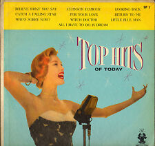 "DIVERS ""TOP HITS OF TODAY"" ROCK N' ROLL DOO WOP 50'S LP PARADE SP 1"