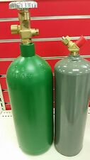20 CF R OXYGEN AND 10cf  MC ACETYLENE TANK - NEW FOR WELDING & CUTTING