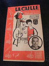Partition La Caille Edouard Duleu La valse de la bière 1958
