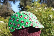 CYCLING CAP CHIRSTMAS TIME  100% COTTON FABRIC HANDMADE