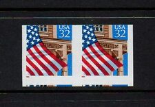US #2913a Flag over porch: IMPERF & MISCUT coil pair. EFO/ERROR stamps. MNH