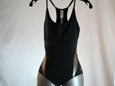 "BODYROCK SPORT ""H20 COLLECTION-STACY"" BLACK/GOLD TRIATHON ONEPIECE SZ X-Small/XS"