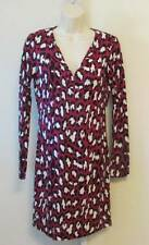 Diane von Furstenberg Reina Spotted Cat Rouge leopard pink hot 2 tunic dress New
